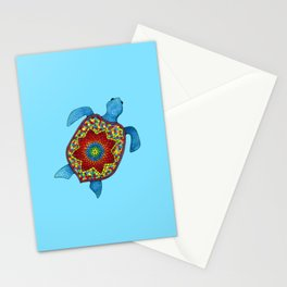 Turtley Awesome Mosaic Turtle Stationery Cards