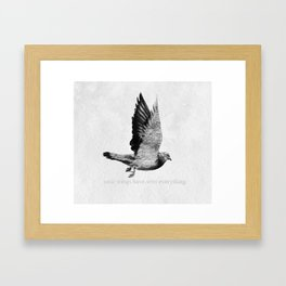 Voyager: Your Wings Have Seen Everything Framed Art Print