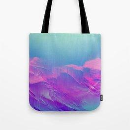 EL PARAISO - Abstract Digital Image Texture Glitch Art Tote Bag