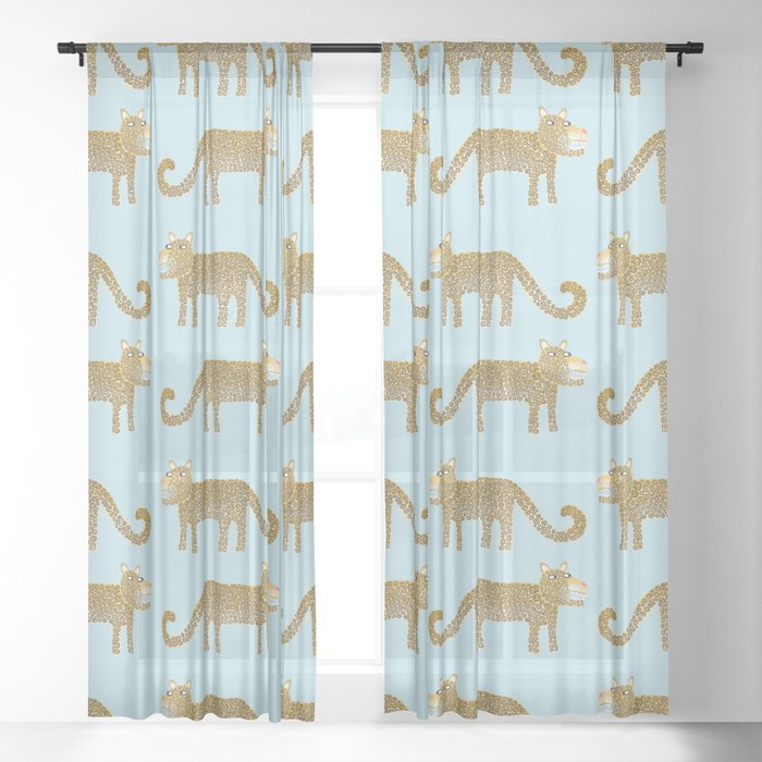 Jaguar Days Sheer Curtain