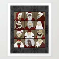 Baby Daddy Santa Art Print