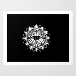 The All Seeing One Art Print