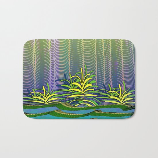 Tropical Yellow Jungle Bath Mat