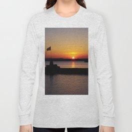 A beautiful sunset view of Lough Neagh Long Sleeve T-shirt