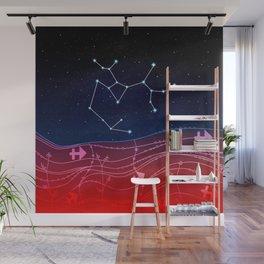 Sagittarius Zodiac Constellation Design Wall Mural