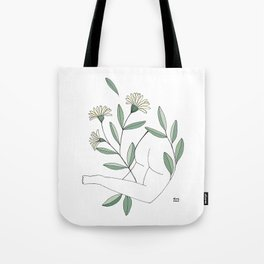 Flower lounging Tote Bag