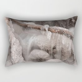 Frozen Winter Waterfall Rectangular Pillow