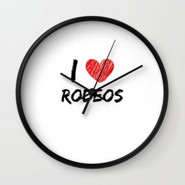 I Love Rodeos Wall Clock