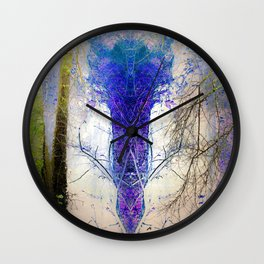 He waits inside the forest Wall Clock