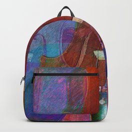 Violin Abstract Two Backpack