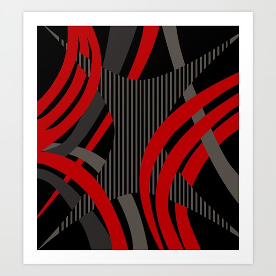 Red Wired Art Print