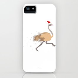 Christmas Ostrich Santa Ugly Kwanzaa gift iPhone Case