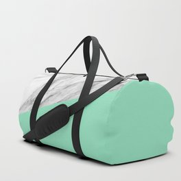Carrara Marble and Sea Color Duffle Bag