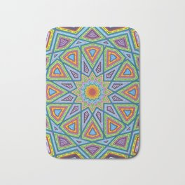 Islamic Geometry Bath Mat