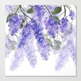 Purple Wisteria Flowers Canvas Print