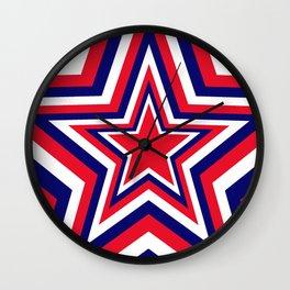 Fourth of July Star Wall Clock