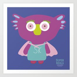 """Super Koala"" Art Print"