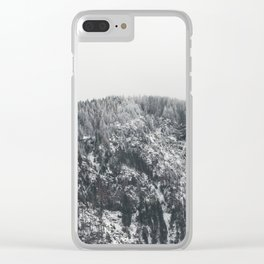 Snowy Mountain - Forest Adventure Begins Clear iPhone Case