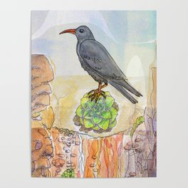 Bird on the Flower / Graja y Bejeque Poster