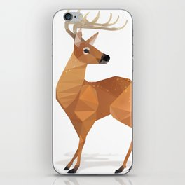 Low Poly White-tailed Deer iPhone Skin