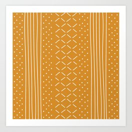 Milenesa Mustard Mud Cloth Art Print