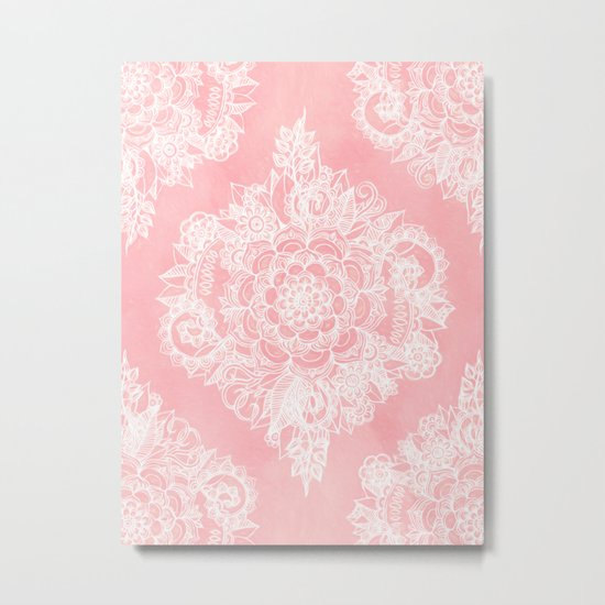 Marshmallow Lace Metal Print