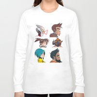 gorillaz Long Sleeve T-shirts featuring Bandit Days by Philtomato