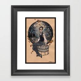 Victorian Witch Framed Art Print