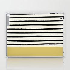Daffodil Yellow x Stripes Laptop & iPad Skin