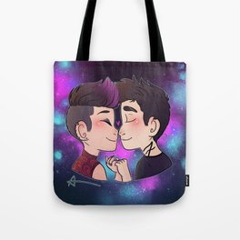 Galaxy Kiss Tote Bag