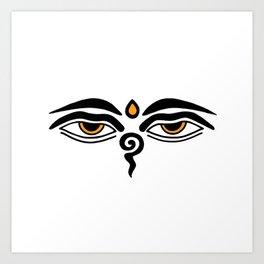 buddha eyes Art Print