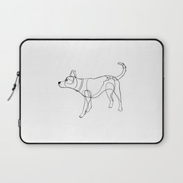Minimalist line art drawing of Year of the Dog Laptop Sleeve