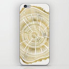 Paper Birch – Gold Tree Rings iPhone Skin