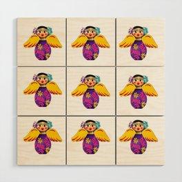 Mexican Purple Angels Wood Wall Art