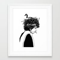 dylan Framed Art Prints featuring Dylan by Sy Graham