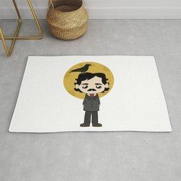 Cute Edgar Allan Poe Rug