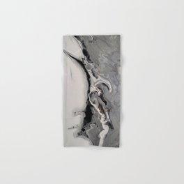 Silver Streak - Fluid Acrylic Abstract Flow Painting Hand & Bath Towel