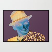 frank sinatra Canvas Prints featuring Frank Sinatra by MegThebeau