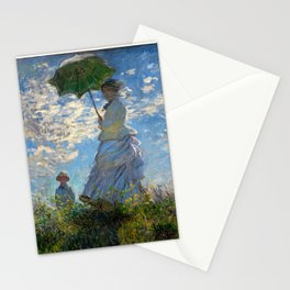 Woman with a Parasol - Madame Monet and Her Son Stationery Cards