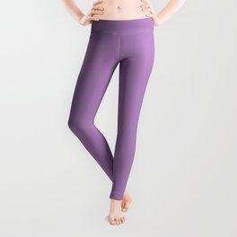 African Violet Solid Color Leggings