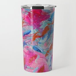 Flowing Feathers by Aeva Meijer Travel Mug