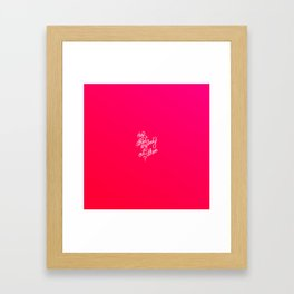 Hey is there anybody out there?   [gradient] Framed Art Print