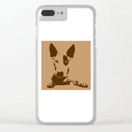 bull terrier 3 Clear iPhone Case