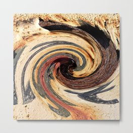 Swirl 07 - Colors of Rust / RostArt Metal Print