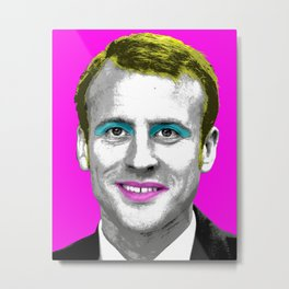 Marilyn Macron - Pink Metal Print