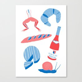 French Food  Canvas Print