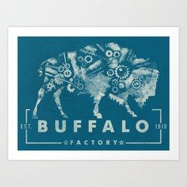 BUFFALO FACTORY GEARS #2 Art Print