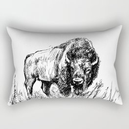 Buffalo Sketch Rectangular Pillow