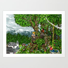 Little Explorers Art Print