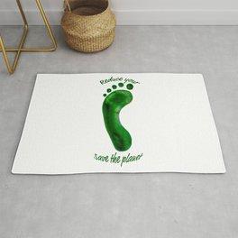 Reduce Your Footprint Rug